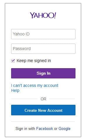 Login Yahoo!